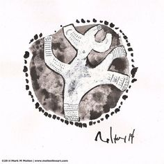 ORBIS No. 12 - Original Sumi Ink and Gouache Drawing  on Etsy, $50.00