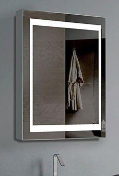 Innoci Usa 69402 Illumirror Led Mirrored Medicine Cabinet With Lights On Each Side