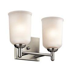 $82 Kichler Lighting 2-Light Shailene Brushed Nickel Bathroom Vanity Light