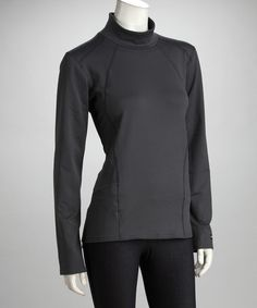 e52262ef001 Take a look at this Kerrits Charcoal Fabrisuede Turtleneck - Women by  Kerrits Performance Equestrian Apparel