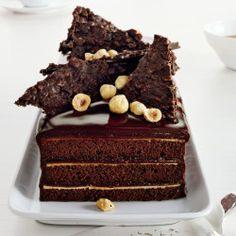 Chocolate Hazelnut Cake with Praline Chocolate Crunch Recipe - Bon Appétit