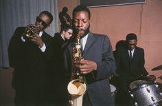 Don Cherry, Charlie Haden, Ornette Coleman, Ed Blackwell. 1960