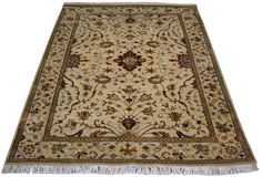 "NEW! Hand-knotted 3'11""x5'10"" Kashan design area rug, available now: https://www.mainstreetorientalrugs.com/collections/new/products/3-11x5-10-kashan-design"