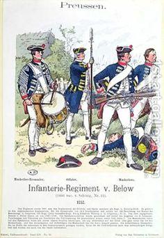 Soldiers from the Prussian Infantry Regiment von Below in 1757 by Richard Knoetel