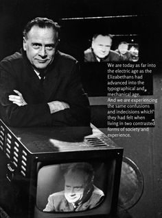 """marshall mcluhan """"The medium is the messsage"""" """"understanding media"""" Marshall Mcluhan, Happy Canada Day, Literary Fiction, World View, Social Science, Social Issues, I Love Books, Literature, Novels"""