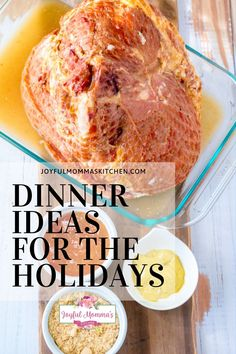 Dinner should be fun and delicious! This recipe is perfect for any dinner party or the holidays in general! This Apricot Dijon Glazed Ham recipe is everything and more. You won't be disappointed. #joyfulmommaskitchen #dinnerpartyrecipes #recipesfordinner #recipesfortheholidays #holidaydinnerrecipes