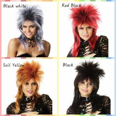 Halloween Color Synthetic Wig 1PC/lot Medium Straight Party Supplies Wig Multicolor Gradient Smart Cheap Cosplay Wig.Halloween masquerade party  funny wig, essential supplies.That to make some change in the hairstyle,It brings out a  happy mood around us .n unusual appearance.Ok, maybe  you can think about the wigs.