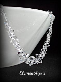 Bridal necklace Wedding necklace Jewelry Swarovski by Element4you, $64.00