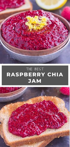 This Raspberry Chia Jam is simple, fresh, and packed with flavor! What Is Healthy Food, Healthy Foods To Make, Healthy Food Habits, Healthy Food List, Healthy Food Choices, Healthy Eating Recipes, Healthy Snacks, The Ordinary, Bagels