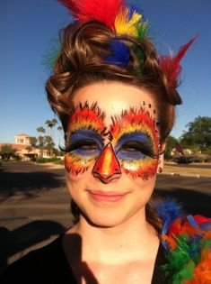 Exotic Bird makeup by Jen Nelson