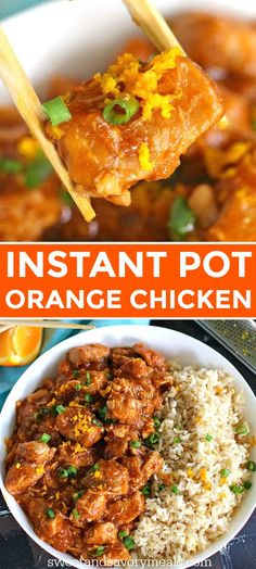Pot Orange Chicken is healthier than takeout and only takes around 30 minutes to make. Best served over rice or noodles.Instant Pot Orange Chicken is healthier than takeout and only takes around 30 minutes to make. Best served over rice or noodles. Instant Pot Pressure Cooker, Pressure Cooker Recipes, Instant Pot Dinner Recipes, Instant Pot Chinese Recipes, Instant Pot Meals, Instant Pot Chicken And Rice Recipe, Instant Pot Asian Recipes, Whole 30 Instant Pot, Recipes Dinner