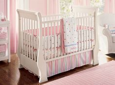over the top nursery rooms | images of girls baby room designs awesome white crib design for pink ...