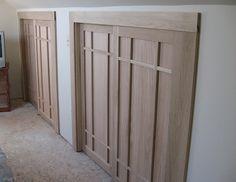 Amazing craftsman style closet doors.