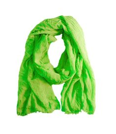 Green unisex summer scarf handmade large lime green in luxurious soft linen and modal mix.
