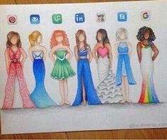 Sociale Media dress