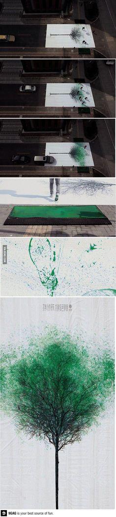 Painting a crosswalk