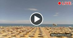 View on the famous beach of #Rimini. #Live #webcam #travel #Italy #Italia #summer