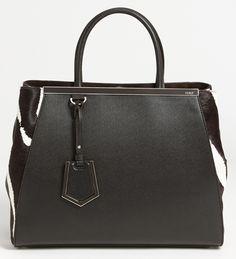 d87130d7ec47 Fendi 2Jour Calf Hair Shopper Cute Handbags