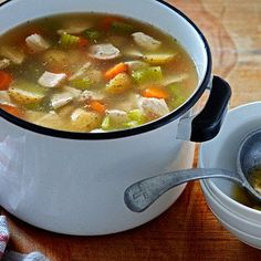 This chicken soup recipe makes a big batch — just tuck any leftovers in the freezer for a soothing homemade supper down the road. More at Chatelaine.com