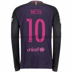Barcelona Fotbalové Dresy 2016-17 Messi 10 Venkovní Dres Dlouhým Rukávem