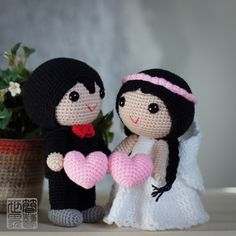 When two becomes one; when You and I becomes Us. #weddingdolls #wedding #saplanetoriginals #crochet #handmade #amigurumi #decoration #gifts