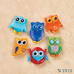 Fused Glass Owl Charms, Charms, Beading, Craft & Hobby Supplies - Oriental Trading