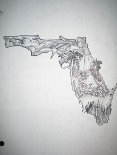 florida tattoo Florida Drawing At Getdrawingscom Free For Personal Use Florida in Deer Skull Dr. Skull Drawing With Flowers, Deer Skull Drawing, Skull Drawings, Best Sleeve Tattoos, Cool Tattoos, Tatoos, Badass Tattoos, Amazing Tattoos, Alligator Tattoo