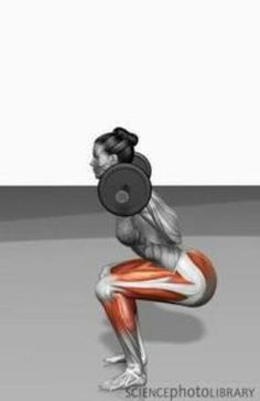 Squat #fitness the exact form I'm always preaching now you can see it. Notice how her weight Is on her heels, booty out, abs tight, hips are no lower than the knees, knees aren't tracking over the toes!