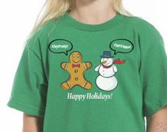 Happy Holidays Shirt, Funny Kids Christmas Tees, Toddler Happy Holidays Tee,Stay Frosty Stay Ginger Tee, Happy Holidays Tee, Christmas Gifts