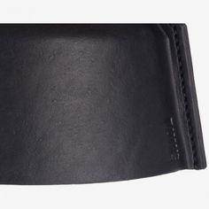 Leder-Hängeleuchte LLOYD, schwarz, Puik Art