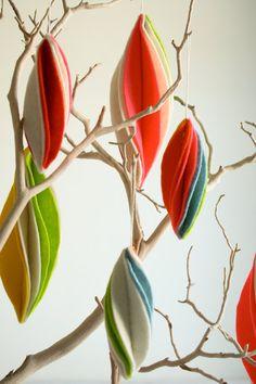 Игрушки на ёлку из фетра или плотной ткани