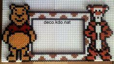 Winnie and Tigger photo frame hama perler beads by deco.kdo.nat