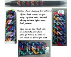 Rainbow Maze Accessory Set eBook 2 contains pen wrap, lip balm cover, big and mini lighter covers.