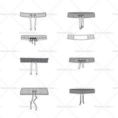 Waistband Fashion Flats Templates $ 4.99 #waistband #illustratorstuff #vector fashion #fashiondesign #fashiondesigner #fashionflats #flatfashion #forsale #adobeillustrator #garments #apparel