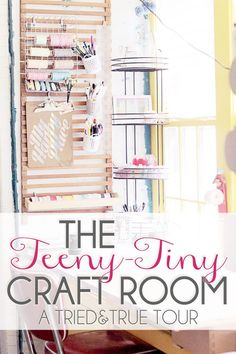 Tried & True's Teeny Tiny Craft Room Tour - Great ways to utilize storage space in a confined area!