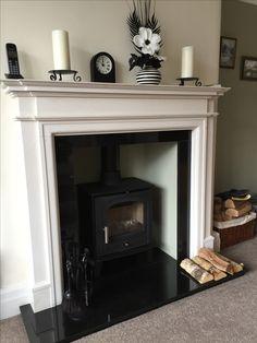 Blush Grey Copper Living Room, Copper Decor Living Room, Tv Above Fireplace, Stove Fireplace, Fireplace Ideas, Victorian Fireplace, Victorian House, Stove Installation, Log Burner