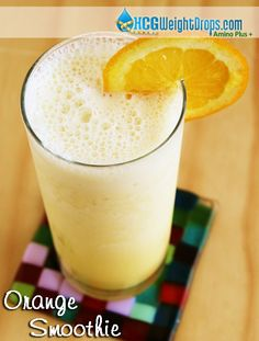 70 calorie Orange Smoothie recipe. No sugar added, and so good you'll think you cheated on your diet!