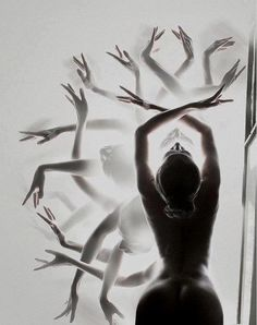 transforming into a dancing spiritus.  #yoga #artwork Loved and pinned by www.deyogatempel.nl