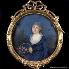 ECOLE FRANCAISE DU XVIIIeme SIECLE, PORTRAIT MINIATURE Reine DE MOREL DE BARRAL DE MONTAUVRARD