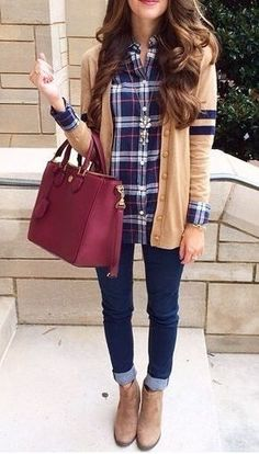 #winter #fashion / plaid