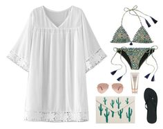 """""""Sin título #3980"""" by mdmsb on Polyvore featuring moda, WithChic, Victoria's Secret, MANGO, Reef, Ray-Ban y Shiseido"""