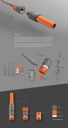 product poster design Neta Hose Fittings on Behance Portfolio Design Layouts, Layout Design, Sketch Design, Product Design Portfolio, Profolio Design, Design Ideas, Portfolio Ideas, Web Portfolio, Web Layout