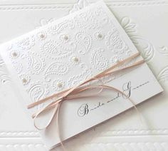 invitations by bwr Embossed Wedding Invitations