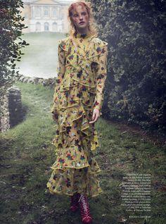 nice Magdalena Jasek models dreamy dresses for Harper's Bazaar UK March 2016 by Regan Cameron  [fashion]