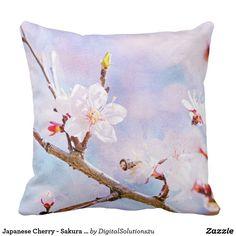 Japanese Cherry - Sakura In Bloom Throw Pillow