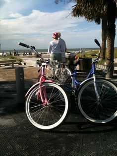 Biking on Hilton Head Island, South Carolina -- You used to rent bikes for one of your recreation things besides painting sand dollars with the kids, etc.