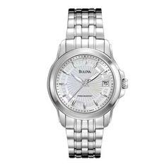 I want this!!!   Ladies' Bulova Precisionist Watch with Silver Dial (Model: 96M121)