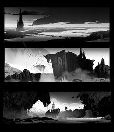 ArtStation - Composition sketches, Ekaterina Orange