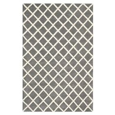 Soho Hand Tufted Area Rug in Charcoal and White W182 x D274 cm
