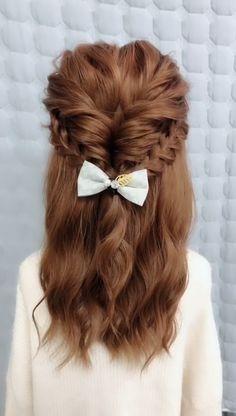 The girls long hair Braided Hairstyles Simple Hairstyles Braided girls hair Hairstyles Long Long Hair Braided Hairstyles, Flower Girl Hairstyles, Little Girl Hairstyles, Cute Hairstyles, Office Hairstyles, Anime Hairstyles, Stylish Hairstyles, Hairstyles Videos, School Hairstyles